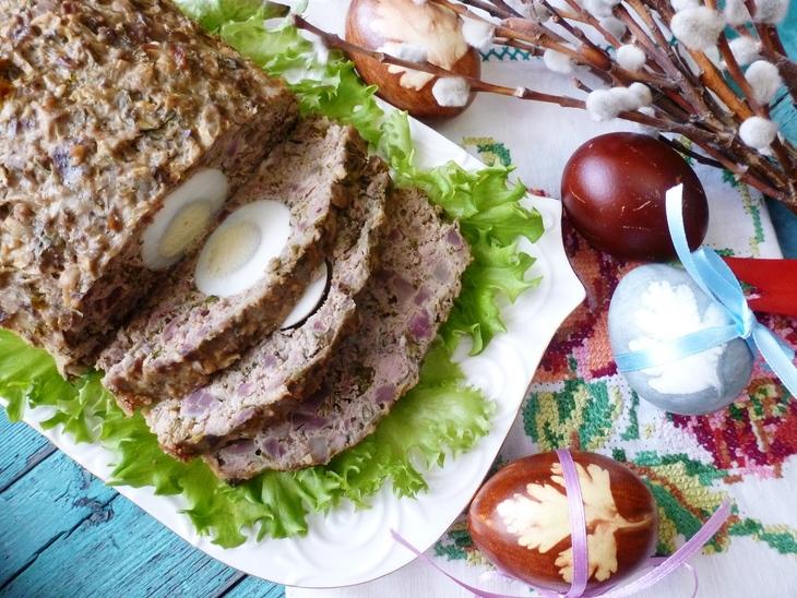 Пасхальная балканская запеканка из куриных потрошков #пасха