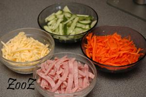 Сырный салатик: фото шаг 1