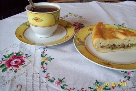 Пирог со стручковой фасолью.: фото шаг 11