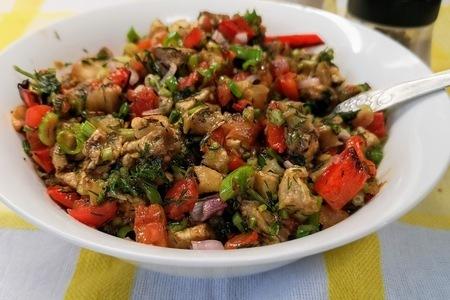 Хоровац — салат из запеченных овощей: фото шаг 4