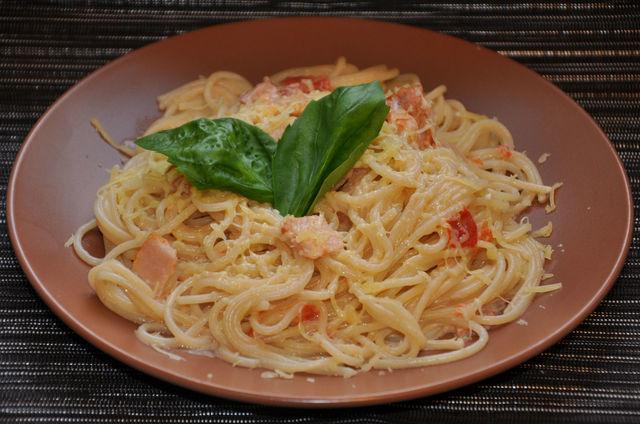 Спагетти карбонара со сливками и беконом, пошаговый рецепт с фото