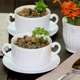 Грибной суп с диким рисом
