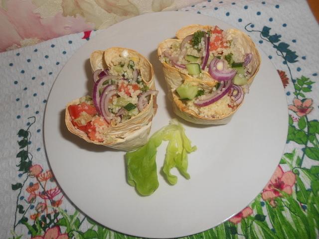 Постный салат из кускуса и овощей – кулинарный рецепт