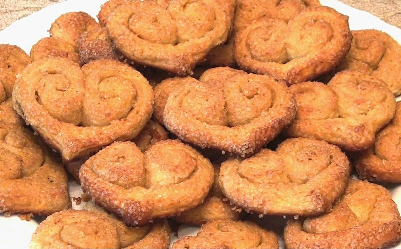 """Печенье """"творожно-сахарные сердечки"""""""