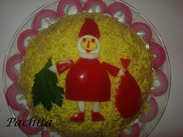 """Салат """"Милый Санта"""" – кулинарный рецепт"""