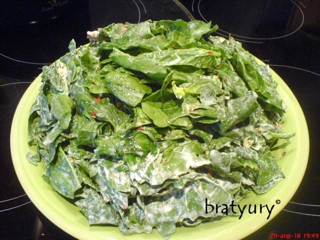 Салат с рукколой, шпинатом и яйцом - рецепт пошаговый с фото